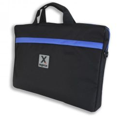 Approx APPNB15S 15.6 Laptop Carry Case, Multiple Compartments, Black & Blue, Retail