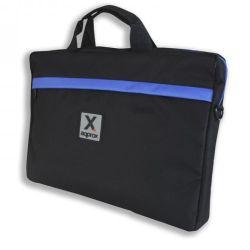 "Approx (APPNB15S) 15.6"" Laptop Carry Case, Multiple Compartments, Black & Blue, Retail"