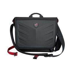 "Asus ROG Ranger Messenger 15.6"" Laptop Carry Case, 1260D Gucci Polyester, Water/Scratch Resistant, Black"