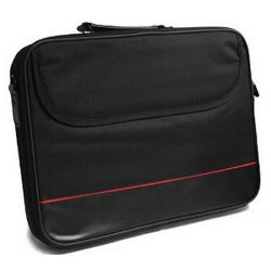 "Spire 15.6"" Laptop Carry Case, Black with front Storage Pocket"