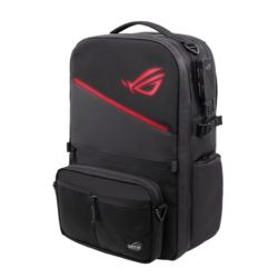 "Asus ROG 17"" Ranger BP3703 RGB Modular Gaming Backpack, Charge-Cable Passthrough, Anti-theft, Water Repellent, RFID-blocking Pocket, 20 Litre"