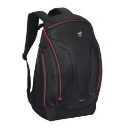 "Asus ROG SHUTTLE II 17"" Backpack, Oversized Interior, Water Resistant, Black & Red"