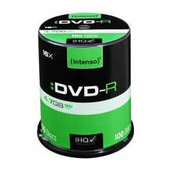 Intenso DVD-R, 4.7GB120 Minutes, 16x Speed, Single Layer, Cake Box of 100