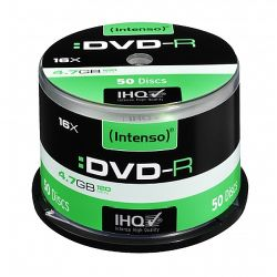 Intenso DVD-R, 4.7GB120 Minutes, 16x Speed, Single Layer, Cake Box of 50