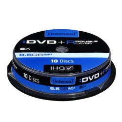 Intenso DVD+R, 8.5GB, 8x Speed, Dual Layer, Slim Case of 5