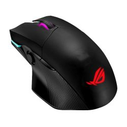 Asus ROG Chakram Gaming Mouse with Qi Charging, Wired/Wireless/Bluetooth, 16000 DPI, Programmable Joystick, RGB Lighting