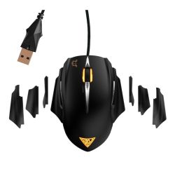 Gamdias EREBOS Laser Gaming Mouse, USB, 8200 DPI, 8 Smart Buttons, Weight Tuning