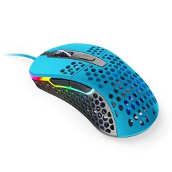 Xtrfy M4 RGB Wired Optical Gaming Mouse, USB, 400-16000 DPI, Omron Switches, 125-1000 Hz, Adjustable RGB, Blue