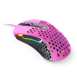 Xtrfy M4 RGB Wired Optical Gaming Mouse, USB, 400-16000 DPI, Omron Switches, 125-1000 Hz, Adjustable RGB, Pink