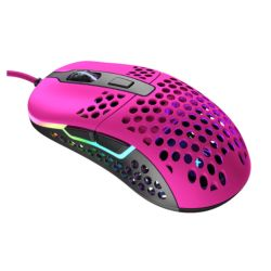 XTRFY M42 Wired Optical Ultra-Light Gaming Mouse, USB, 400-16000 DPI, Omron Switches, Adjustable RGB, Modular Design, Pink