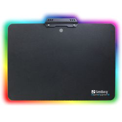 Sandberg 520-31 RGB Mouse Pad, 7 LED, Black Coated Aluminum, 340 x 245 x 2.5 mm