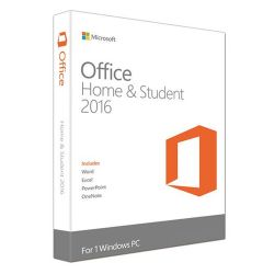 Microsoft Office 2016 Home & Student, PKC OEM, 1 Licence, 32 & 64 bit, Medialess