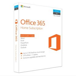 Microsoft Office 365 Home, 15 Licences 5 PCs, 5 Tablets, 5 Phones, 1 Year Subscription, 32 & 64 bit