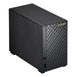 ASUSTOR AS1002T 2-Bay NAS Enclosure No Drives, Dual Core 1GHz CPU, 512MB, USB3, Diamond-Plate Finish