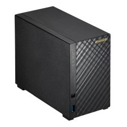 ASUSTOR AS1002T V2 2-Bay NAS Enclosure No Drives, Dual Core 1.6GHz CPU, 512MB, USB3, Diamond-Plate Finish