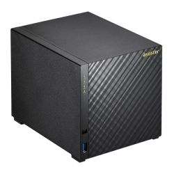 ASUSTOR AS1004T V2 4-Bay NAS Enclosure No Drives, Dual Core 1.6GHz CPU, 512MB, USB3, Diamond-Plate Finish