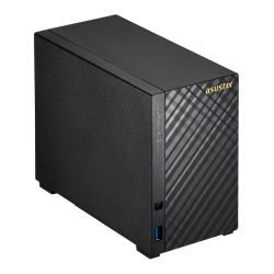 ASUSTOR AS3102T 2-Bay NAS Enclosure No Drives, Dual Core CPU, 2GB DDR3L, HDMI, USB3, Diamond-Plate Finish