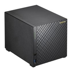 ASUSTOR AS3204T V2 4-Bay NAS Enclosure No Drives, Quad Core CPU, 2GB DDR3L, HDMI, USB3, Dual GB LAN, Diamond-Plate Finish