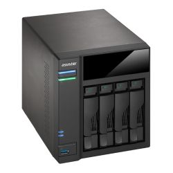 ASUSTOR AS6104T 4-Bay NAS Enclosure No Drives, Dual Core CPU, 2GB DDR3L, HDMI, USB3