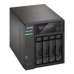 ASUSTOR AS6204T 4-Bay NAS Enclosure No Drives, Quad Core CPU, 4GB DDR3L, HDMI, USB3, LCD Screen