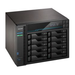 ASUSTOR AS6510T Lockerstor 10-Bay NAS Enclosure No Drives, Quad Core CPU, 8GB DDR4, USB 3.2, 2 x 10G LAN, 2 x 2.5G LAN,  2 x M.2 NVMe