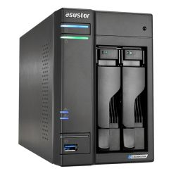 ASUSTOR AS6602T Lockerstor 2-Bay NAS Enclosure No Drives, Quad Core CPU, 4GB DDR4, USB 3.2, 2 x 2.5G LAN,  2 x M.2 NVMe