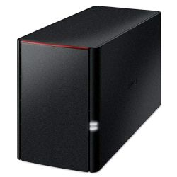 Buffalo LinkStation 220 2-Bay NAS Enclosure No Drives, RAID 0, 1, JBOD, NovaBACKUP, Built-in BitTorrent