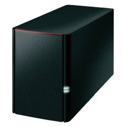 Buffalo 2TB LinkStation 220 NAS Drive, 2 x 1TB, RAID 01, GB LAN, NovaBACKUP, Built-in BitTorrent