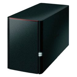 Buffalo 6TB LinkStation 220 NAS Drive, (2 x 3TB), RAID 0/1, GB LAN, NovaBACKUP, Built-in BitTorrent