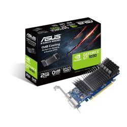 Asus GeForce GT1030, 2GB DDR5, PCIe3, DVI, HDMI, 1506 MHz, Low Profile With Bracket, Silent