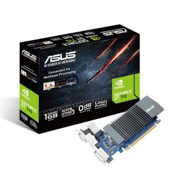 Asus GT710, 1GB DDR5, PCIe2, VGA, DVI, HDMI, 954MHz Clock, Silent, Low Profile No Bracket