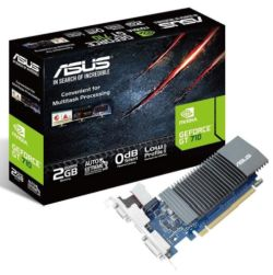 Asus GT710, 2GB DDR5, PCIe2, VGA, DVI, HDMI, Silent, Low Profile (Bracket Included)