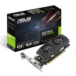 Asus GTX1050 Ti OC - Low Profile, 4GB DDR5, PCIe3, DVI, HDMI, DP, 1442MHz, Overclocked