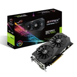 Asus GTX1050 Ti STRIX OC, 4GB DDR5, PCIe3, DVI, HDMI, DP, 1392MHz Clock, RGB Lighting, Overclocked