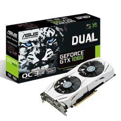Asus GTX1060 DUAL OC, 3GB DDR5, DVI, 2 HDMI, 2 DP, 1809MHz Clock, Overclocked