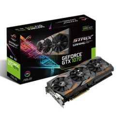 Asus ROG STRIX GTX1070, 8GB DDR5, PCIe3, DVI, 2 HDMI, 2 DP, 1721MHz Clock, RGB Lighting, DirectCU III