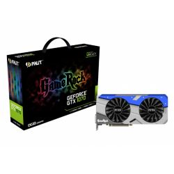 Palit GTX1070 Gamerock, 8GB DDR5, PCIe3, DVI, HDMI, 3 DP, 1746MHz, RGB Lighting, 0dB, VR Ready