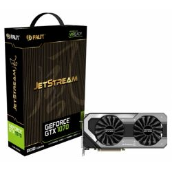 Palit GTX1070 JetStream, 8GB DDR5, PCIe3, DVI, HDMI, 3 DP, 1683MHz, RGB Lighting, 0dB, VR Ready