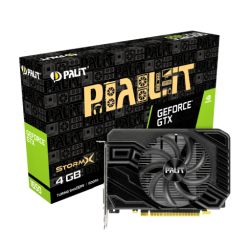 Palit GTX1650 StormX D6, 4GB DDR6, DVI, HDMI, DP, 1590MHz Clock, Compact Design *6-pin PCIe required*