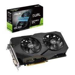 Asus DUAL GTX1660 SUPER EVO OC, 6GB DDR6, DVI, HDMI, DP, 1860MHz Clock, Overclocked