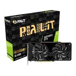 Palit GTX1660 SUPER GamingPro OC, 6GB DDR6, DVI, HDMI, DP, 1830MHz Clock, Overclocked, LED Lighting