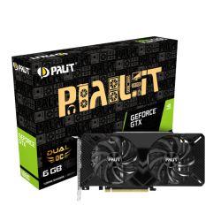 Palit GTX1660 DUAL OC, 6GB DDR5, DVI, HDMI, DP, 1830MHz Clock, LED Lighting, Overclocked