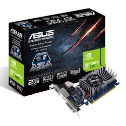 Asus GT730, 2GB DDR5, PCIe2, VGA, DVI, HDMI, Low Profile With Bracket, Dust-proof Fan