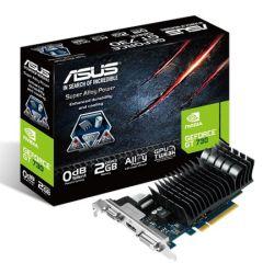 Asus GT730, 2GB DDR3, PCIe2, VGA, DVI, HDMI, 902MHz Clock, DX11, Low Profile (No Bracket), Silent