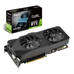 Asus DUAL RTX2060 SUPER EVO Advanced, 8GB DDR6, DVI, 2 HDMI, 2 DP, 1695MHz Clock, 0dB Tech