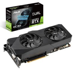 Asus DUAL RTX2060 SUPER EVO OC V2, 8GB DDR6, DVI, 2 HDMI, DP, 1725MHz Clock, 0dB Tech, Overclocked