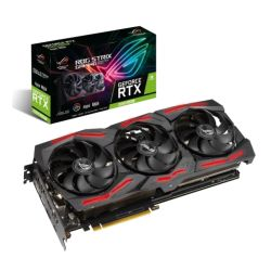 Asus ROG STRIX RTX2060 SUPER EVO OC, 8GB DDR6, 2 HDMI, 2 DP, USB-C, 1860MHz Clock, 0dB Tech, RGB Lighting, Overclocked