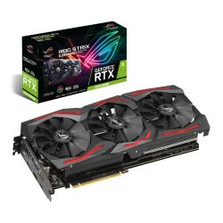 Asus ROG STRIX RTX2060 SUPER, 8GB DDR6, 2 HDMI, 2 DP, USB-C, 1680MHz Clock, 0dB Tech, RGB Lighting