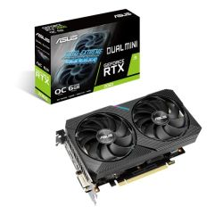 Asus DUAL RTX2060 MINI OC, 6GB DDR6, DVI, HDMI, DP, 1755MHz Clock, Overclocked, Compact Design