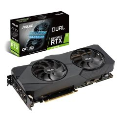 Asus DUAL RTX2070 SUPER EVO OC, 8GB DDR6, HDMI, 3 DP, 1845MHz Clock, NVlink, 0dB Tech, NVLink, Overclocked